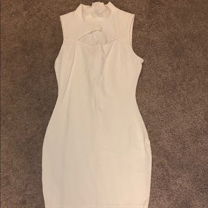 White body fitted dress